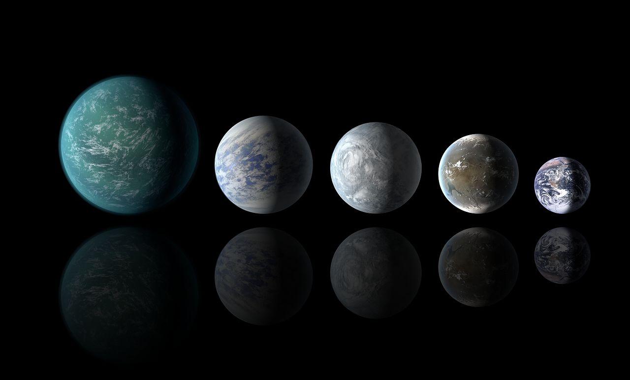 Kepler-22b_Kepler-69c_Kepler-62e_Kepler-62f_and_Earth